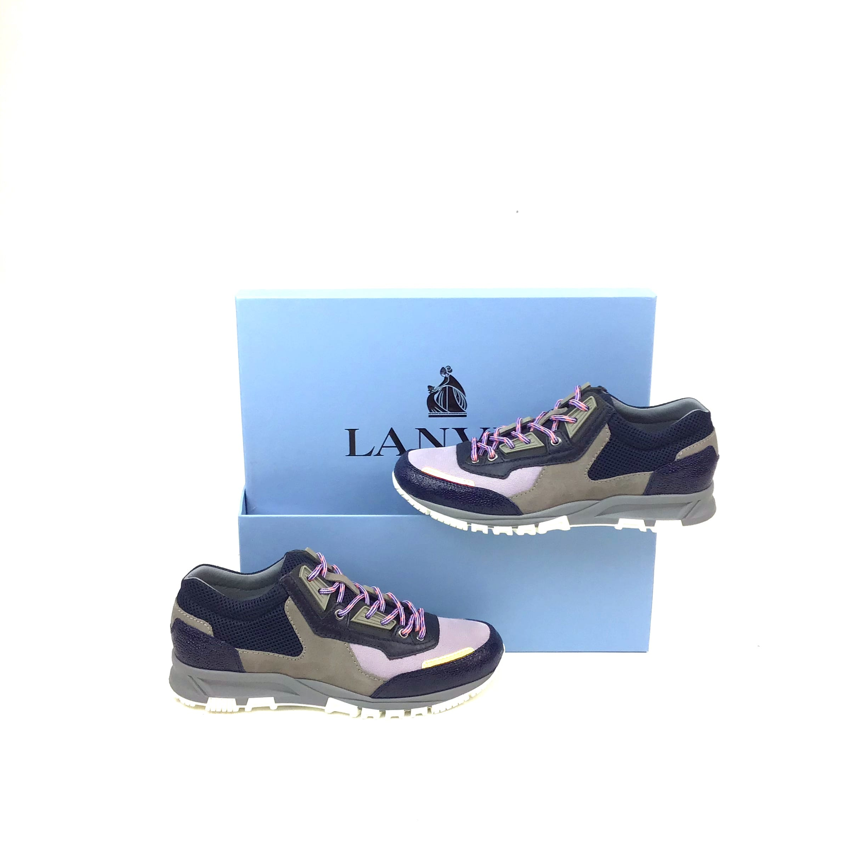 Lanvin Trainers, Grey/Navy/Purple